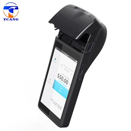 black pos machine with printer